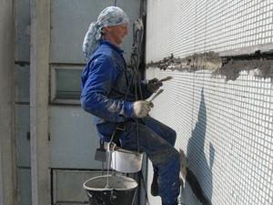 Технология ремонта фасада