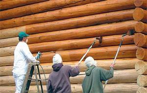Покраска деревянных фасадов