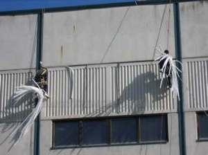 Герметизация стыков панелей промышленных зданий