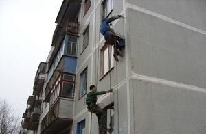 окраска фасадов с выготовкой